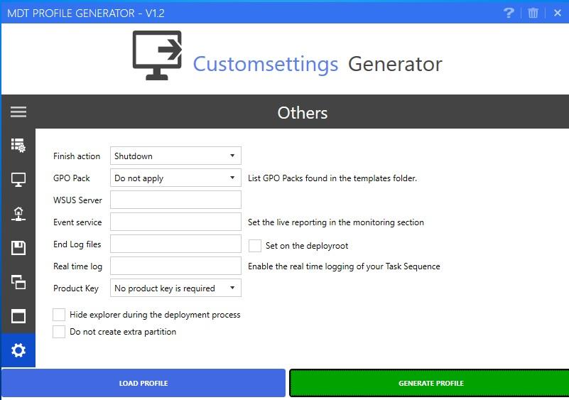 MDT Profile Generator