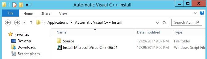 Integrar los Instaladores de Visual C++ con script de Powershell durante el Despliegue en MDT