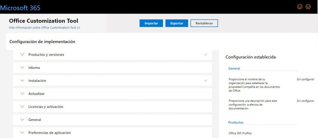 Office Customization Tool para Office 365