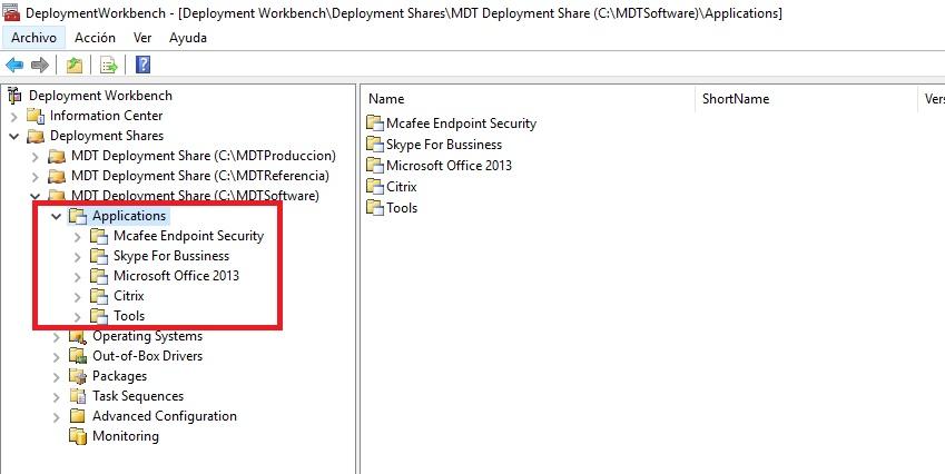 Configurando Software desde MDT Custom Task Sequence