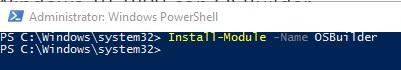 Trabajando Windows 10 1809 con OSBuilder
