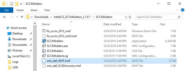 Instalación de Intel SCS en SCCM para el descubrimiento de Intel AMT