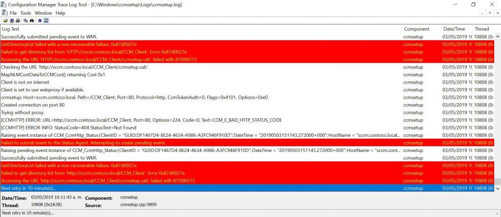 Error al ejecutar Client Push Installation en SCCM 0x87d0027e