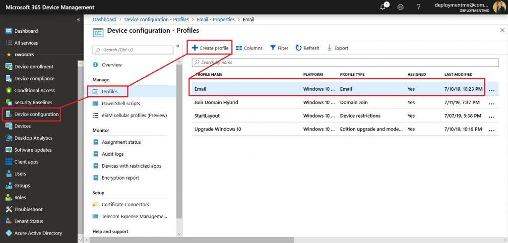Implementar y Configurar App de Correo en Intune