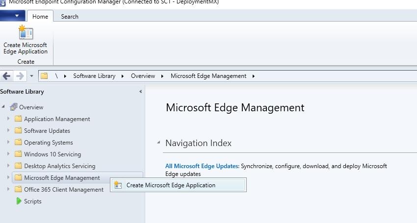 Implementar Microsoft Edge Enterprise en Microsoft endpoint Configuration Manager