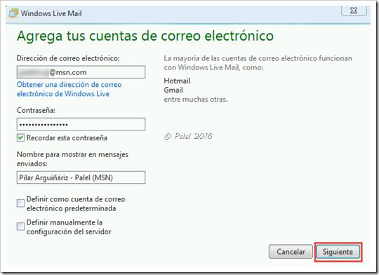 Agregar cuenta Microsoft en WLM